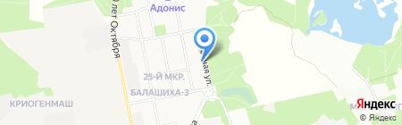 Детский сад №7 на карте Балашихи