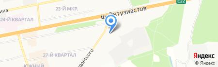 Южная звезда на карте Балашихи