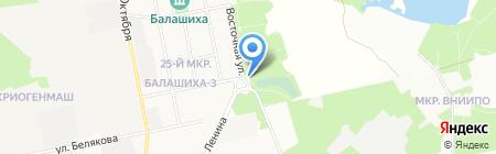Ковчег на карте Балашихи
