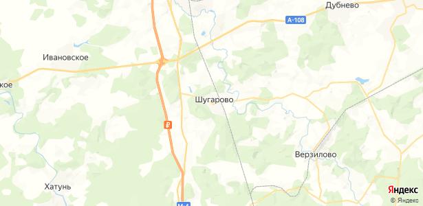 Шугарово на карте