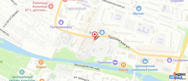 Карта расположения пункта доставки Талсинская в городе Щелково