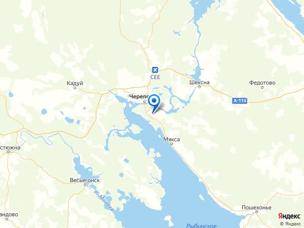 деревня Малата на карте