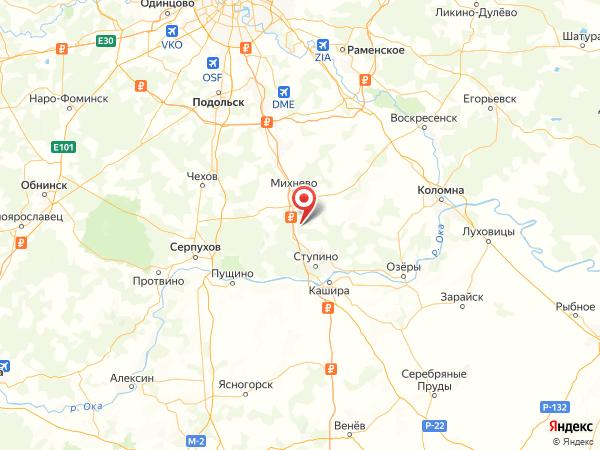 деревня Березня на карте