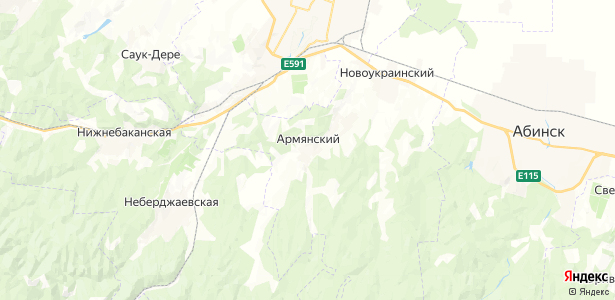 Армянский на карте