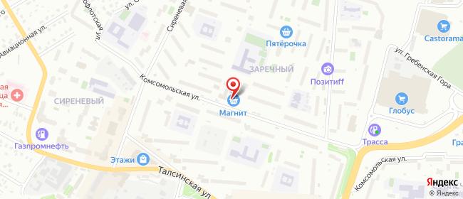 Карта расположения пункта доставки Щелково Комсомольская в городе Щелково
