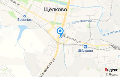 Местоположение на карте пункта техосмотра по адресу Московская обл, г Щёлково, ул Октябрьская, д 6