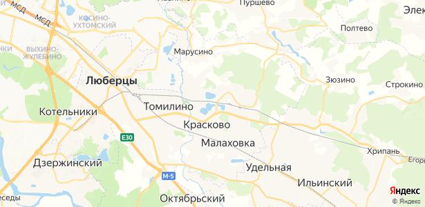 Красково на карте