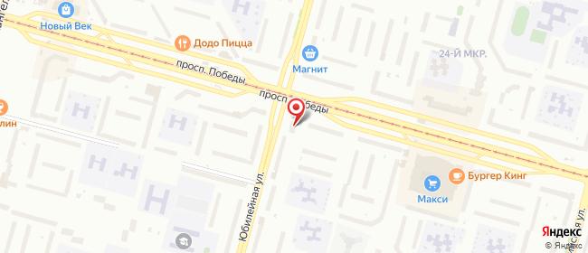Карта расположения пункта доставки Череповец Победы в городе Череповец