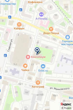 ДК ЧАЙКА на карте Железнодорожного