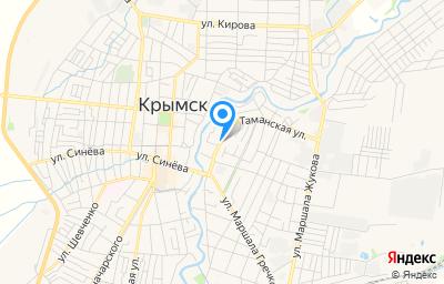 Местоположение на карте пункта техосмотра по адресу Краснодарский край, г Крымск, ул Троицкая, д 130А