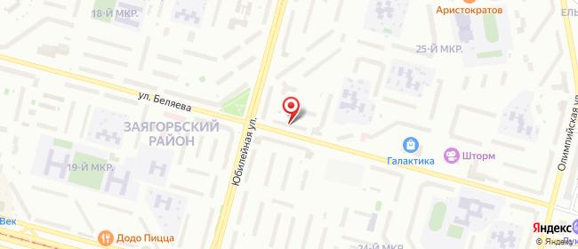 Карта расположения пункта доставки На К.Беляева в городе Череповец