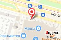 Схема проезда до компании Табак Хаус в Череповце