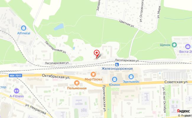 Карта расположения пункта доставки Lamoda/Pick-up в городе Железнодорожный