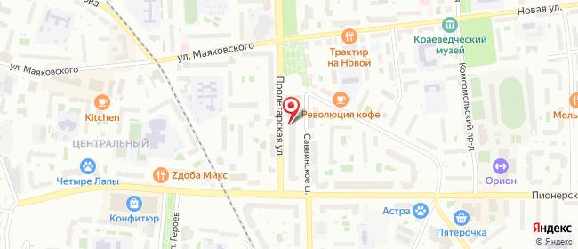 Карта расположения пункта доставки СИТИЛИНК в городе Балашиха