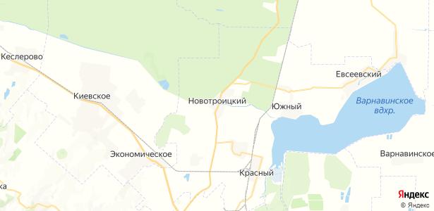 Новотроицкий на карте