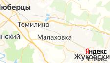 Гостиницы города Малаховка на карте