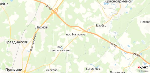 Нагорное на карте