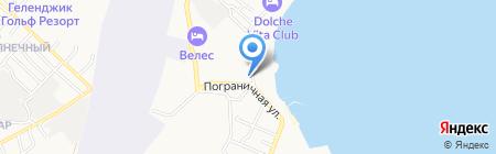 Людмила на карте Геленджика