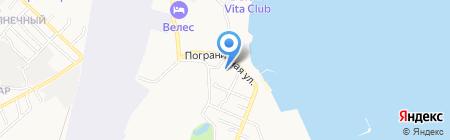 Райская пристань на карте Геленджика