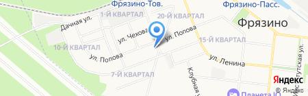 Ветеринарный пункт на ул. Горького на карте Фрязино