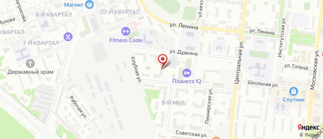 Карта расположения пункта доставки Халва в городе Фрязино