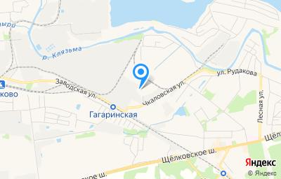 Местоположение на карте пункта техосмотра по адресу Московская обл, г Щёлково, ул Заводская, д 15