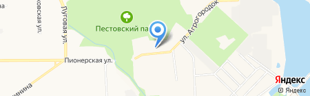 Пестово парк на карте Чёрного