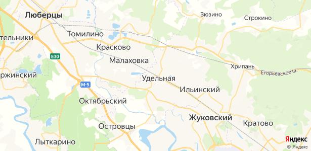 Удельная на карте