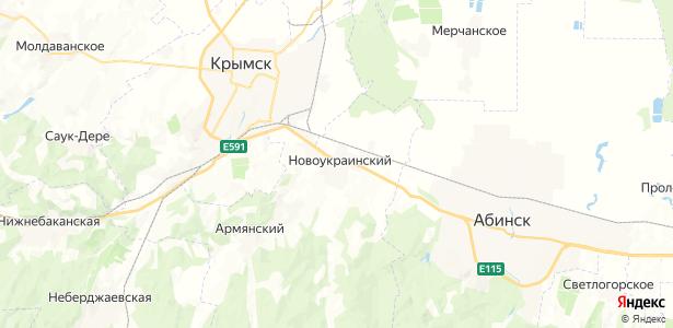 Новоукраинский на карте