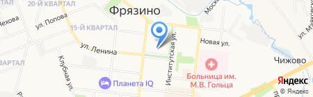 Единая Россия на карте Фрязино