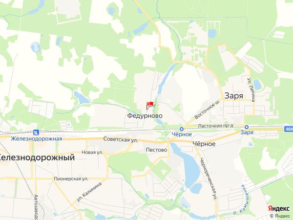 Карта населенный пункт Федурново