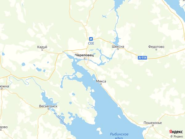 поселок Починок на карте