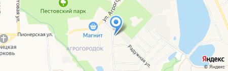 Автостоянка на ул. Агрогородок на карте Чёрного