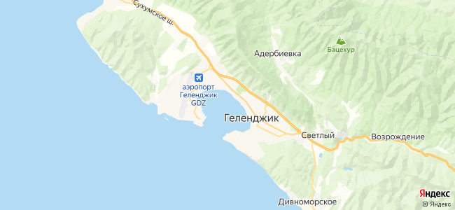 Дома под-ключ Геленджика - объекты на карте