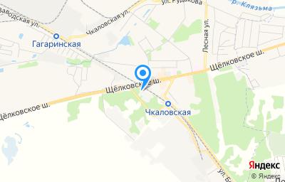 Местоположение на карте пункта техосмотра по адресу Московская обл, г Щёлково, ул Аэродромная, д 1 к 14