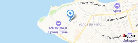 Барракуда на карте Геленджика
