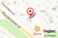 Схема проезда до компании Почтовое отделение №140125 в Островцах