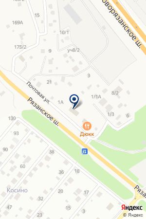 Почтовое отделение №140125 на карте Чулково