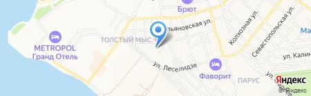 Почтовое отделение №1 на карте Геленджика