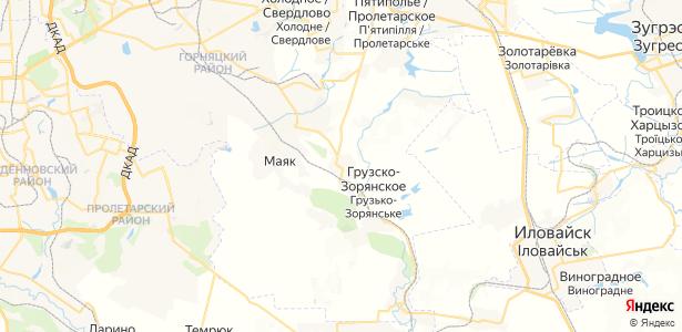 Межевое на карте