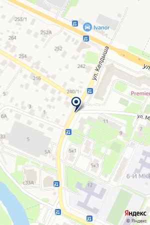 ГСК ВЫМПЕЛ-3 на карте Жуковского