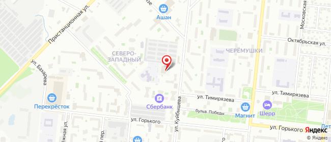 Карта расположения пункта доставки СИТИЛИНК в городе Ступино