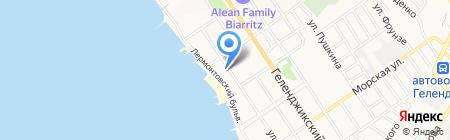 Эдельвейс на карте Геленджика