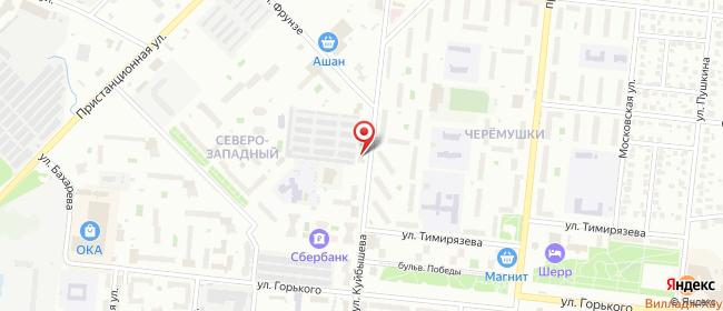 Карта расположения пункта доставки Ступино Куйбышева в городе Ступино