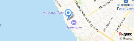 Продуктовый магазин на Лермонтовском бульваре на карте Геленджика