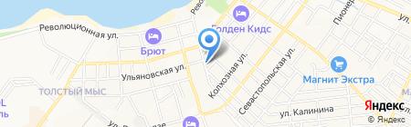 Дом у моря на карте Геленджика