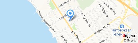 Геленджикский дельфинарий на карте Геленджика