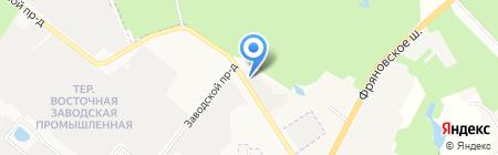 Автомойка на Окружном проезде на карте Фрязино