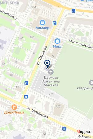 МИХАИЛО-АРХАНГЕЛЬСКАЯ ЦЕРКОВЬ на карте Жуковского