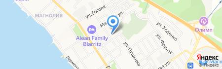 Азимут на карте Геленджика